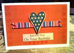 birthday card - scrapbooking