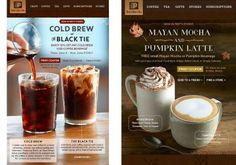 Cold Brew #coffee - Black Tie - Mayan Mocha - #Pumpkin #Latte | Client: #Peet's Coffee & Tea
