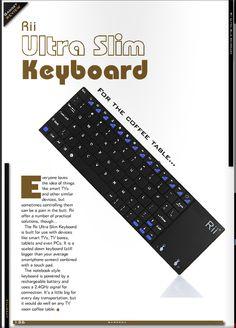 Review - Gamecca - Rii Ultra Slim Keyboard  #syntech #rii #keyboards Smart Tv, Keyboard, Slim