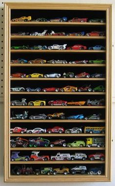 Hobby Die Cast Vehicles Hot Wheels Display Case Cabinet Shadow Box OAK Finish by DisplayGifts & COOL WAY TO DISPLAY NASCAR DIECAST COLLECTION | For my manly man ...
