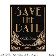 Kunst-Deko Gatsby Art, die Save the Date Wedding 10,8 X 14 Cm Einladungskarte