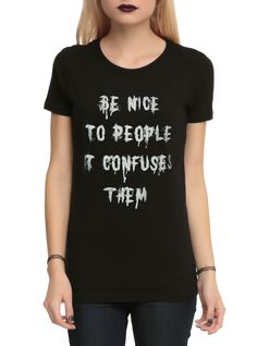 Be Nice To People Girls T-Shirt | Hot Topic