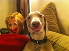 A dog and her owner: