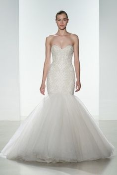 Kenneth Pool - Sweetheart Fit and Flare in Beaded Embroidery
