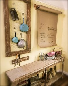 DIY Country Kitchen Accents | KENNETH WINGARD
