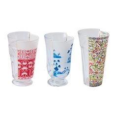 Discover the Seletti Hybrid-Clarice Glasses - Set of 3 at Amara