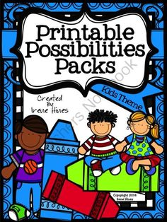 Printable Possibilities Packs ~ Kid Themed Foldables, Graphic Organizers, Paper from Irene Hines on TeachersNotebook.com -  (404 pages)  - My New Series, Printable Possibilities Packs, has three different types of printables: Graphic Organizers, Foldables and Decorative Themed Lined Paper, for endless printable possibilities! $