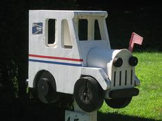 One of my favorite mailboxes Funny Mailboxes, Unique Mailboxes, Custom Mailboxes, Fun Mail, You've Got Mail, Post Box, Mail Call, Mail Boxes, Wood Crafts