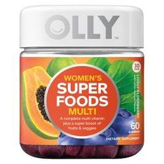 Olly Women's Super Foods Multivitamins Dietary Supplement Gummies – Lively Elderberry – - Prenatal Vitamins Olly Vitamins, Sunburn Relief, Vitamins For Women, Beauty Vitamins, Energy Vitamins, Skin Vitamins, Natural Vitamins, Prenatal Vitamins, Packaging