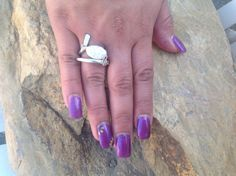 Organic Pearl Ring Artisan Ring Silver Ring by KottageKreations, $29.00