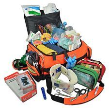 Lightning X Jumbo Medic First Responder EMT Trauma Bag Stocked First Aid Kit SKD