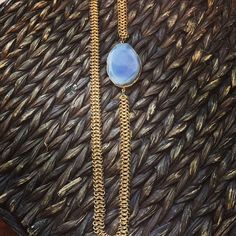 Santina Necklace - Multi-linked chain with beautiful agate stone - $12.00