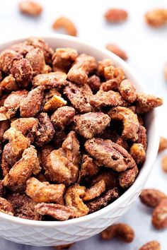 These slow roasted almonds, cashews, and pecans are coated in a sugar glaze spiced with cinnamon making an addicting snack for any occasion!  They also make amazing neighbor gifts! The holidays are…