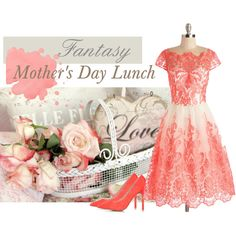Fantasy Mother's Day Lunch by judypimperl on Polyvore featuring Chi Chi and Topshop