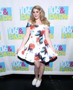 Fresh-faced and with a really fancy 'do, Meghan Trainor was enjoying the success of her first single All About That Bass when she wore this off-the-shoulder skater dress and pumps.   - Cosmopolitan.co.uk