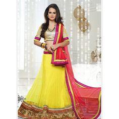 Shop online for exclusive range of best indian bridal wear including bridal saree, bridal gown, bridal designer suit, bridal lehenga saree at best prices. Bridal Lehenga Online, Indian Bridal Sarees, Designer Bridal Lehenga, Lehenga Choli Online, Indian Bridal Wear, Bridal Lehenga Choli, Ghagra Choli, Sarees Online, Yellow Lehenga
