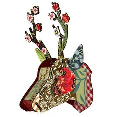 Floral Cardboard Deer Head | Inspiring Interior Decoration ...