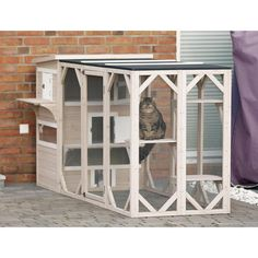 Buy Pet Small Animal Hutch Dog Cat Hen Rabbit Chicken House Cage Outdoor Garden Yard at online store