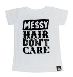 Quinn + Fox Organic Messy Hair Don't Care Tee available for international delivery from Australian online kids store www.alittlebitofcheek.com.au
