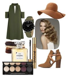 """""""Untitled #30"""" by dariana-achim on Polyvore featuring Topshop, H London, CLUSE, Yves Saint Laurent, Chanel and Witchery"""