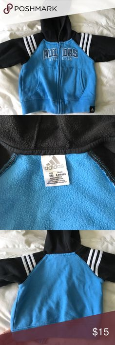 Adidas baby jacket Adidas baby jacket for a 6 month old, could fit up to a 12 month. Minimal wear, no stains. adidas Jackets & Coats