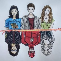Cisco or vibe Barry or the flash Caitlin or killer frost Cisco or vibe Barry or the flash Cai. The Flash Comic, The Flash Art, Flash Y Supergirl, Supergirl Drawing, The Flash Caitlin, The Flash Cisco, Barry And Caitlin, Flashpoint, Comic Art