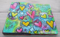Studio Time 11 - free mixed media art journal tutorial with Mimi Bondi