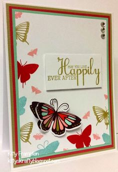 Made for Crafts Beautiful using Clearly Besotted Stamps & Dies. More info on my blog - http://kittyskrafty.blogspot.co.uk/2015/01/delightful-butterflies.html