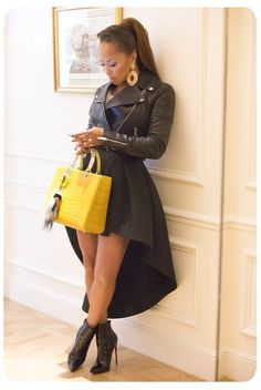 Marjorie Harvey- Steve Harvey's wife Fabulous! love a cropped leather jacket