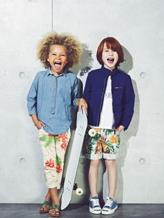 Tendencia tropical. Moda infantil