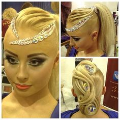 Maria Izotova Latin vs Ballroom Hair & Make up by Julia Karaseva
