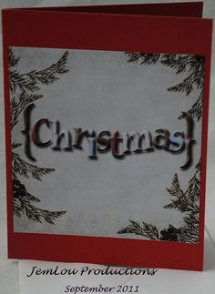Christmas Card by JemLouProductions on Etsy, $3.00