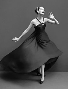 Dovima in Dior by Richard Avedon ~ 1955