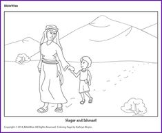 Coloring (Hagar and Ishmael) - Kids Korner - BibleWise
