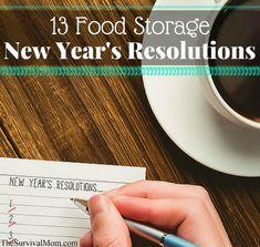 Food storage resolutions will help you stay focused on getting stocked up for emergencies and worst case scenarios. Here are my best resolutions for you! Emergency Food Storage, Dry Food Storage, Emergency Food Supply, Long Term Food Storage, Emergency Preparation, Pantry Storage, Storage Ideas, Shakeology Cleanse, Prepper Food