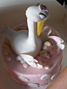 Torta cicogna per battesimo bimba Cupcakes, Design, Cupcake Cakes, Cup Cakes, Muffin, Cupcake