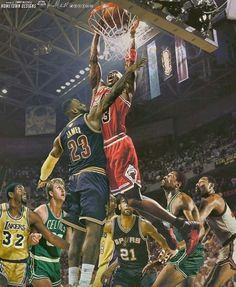The GOAT over LeBron James, Magic Johnson, Larry Bird, Kobe Bryant, Tim Duncan, Bill Russell, and Wilt Chamberlain