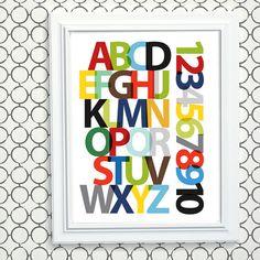 Modern Alphabet Art