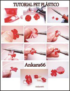 tutorial DIY flower plastic ring