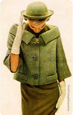 Classy Look : Picture Description Andrew Arkin green herringbone tweed Fashion 60s, Fashion History, Look Fashion, Vintage Fashion, Fashion Outfits, Gloves Fashion, Fashion Capsule, Fashion Hacks, Fashion Graphic
