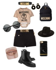 """""""Moschino outfit"""" by davidmihaela on Polyvore featuring Moschino, Lack of Color and Dr. Martens"""