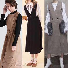 Every season, it never fits into any style . Korean Fashion Dress, Muslim Fashion, Hijab Fashion, Boho Fashion, Girl Fashion, Fashion Dresses, Fashion Design, Fashion Fall, Fashion Men