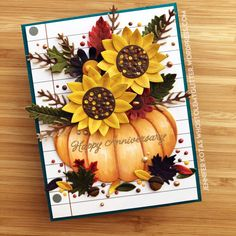 Die Cut Fall Bouquet Anniversary Card – Who Stole My Glitter?