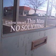Gotta appreciate the thin mint. #greatness