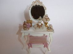 Gorgeous Dressing Table 1:12 Scale by minisbykim on Etsy