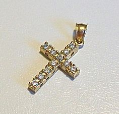 $69 Baptisim Christening Cross for Baby or Child: 10KT yellow gold (Image1)