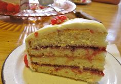 Not the Normal Teenage Fare: Lemon Raspberry Cake With Lemon Cream Cheese Frosting