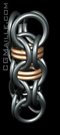 Another one I want to learn, it's just gorgeous!  Captive inverted round chainmaille.