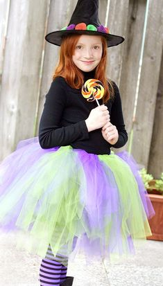 Once the dress-up box is pulled out, no doubt your kiddos go straight for the flouncy tutus, so why not turn their Halloween costume into a tulle-filled affair? These 30 easy costume ideas featuring fluffy tutus channel your child's favorite characters … Witch Costumes, Easy Costumes, Homemade Costumes, Witch Tutu, Costume Ideas, Meme Costume, Diy Halloween Costumes For Girls, Halloween Kids, Halloween Clothes