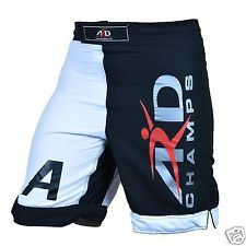 ARD Champs ™ Pro Mma Fight Shorts Ufc Jaula Lucha Grappling Muay Thai Boxeo B&W
